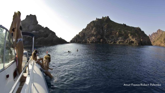 snorkling and boat ride to corsica's scandola nature reserver